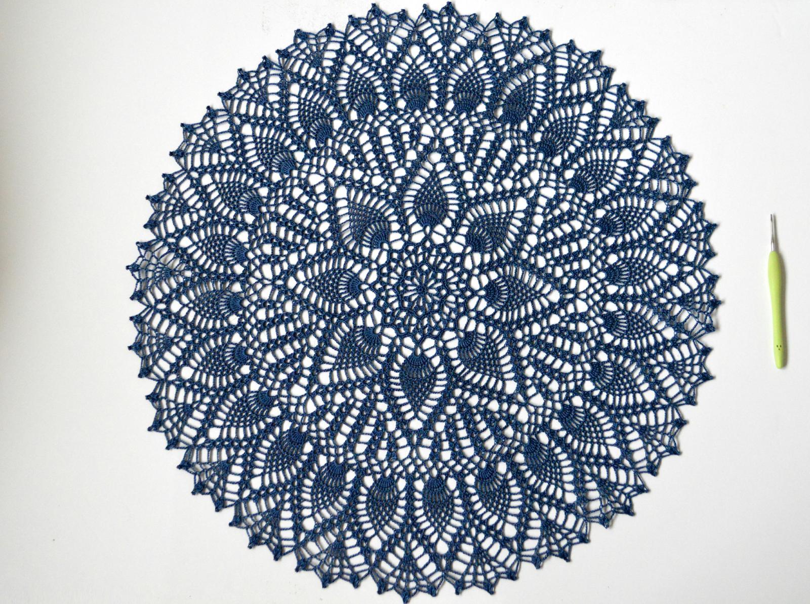 dandelion sunrise: Photo Tutorial = Double Pineapple Doily | Crochet ...