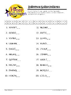 Halloween Letter Patterns Worksheets Grade 3 Pattern Worksheet