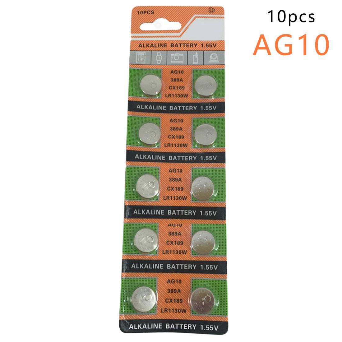 Centechia Pro Montre Batterie 10 Pcs 1 55 V Ag10 Lr54 Lr1130 L1131 389 189 Piles Alcalines Pile Bouton Coin Alkaline Battery Button Cell Watch Battery
