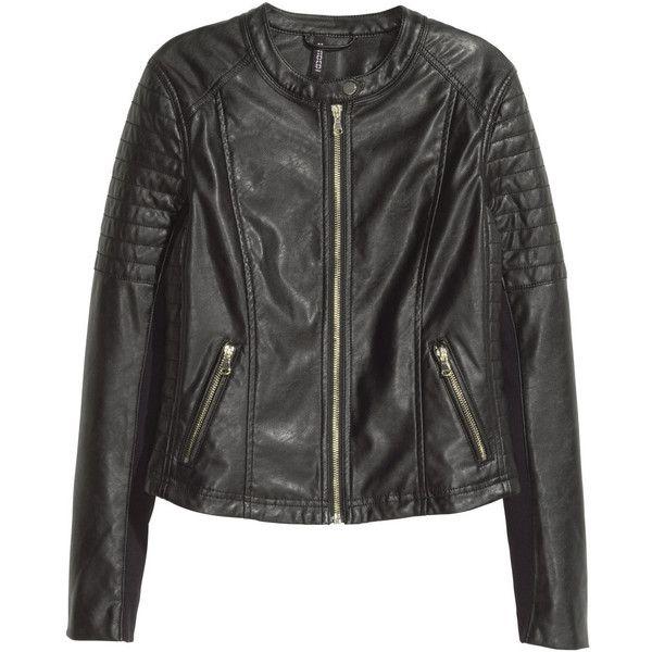 Bikerjacka 399 (190 BRL) ❤ liked on Polyvore featuring jackets, vegan leather jacket, zip jacket, vegan motorcycle jacket, quilted motorcycle jacket and faux leather jacket