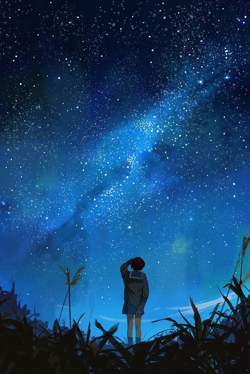 картинки со звездным небом и надпись я тебя найду будучи маленькой, особенно