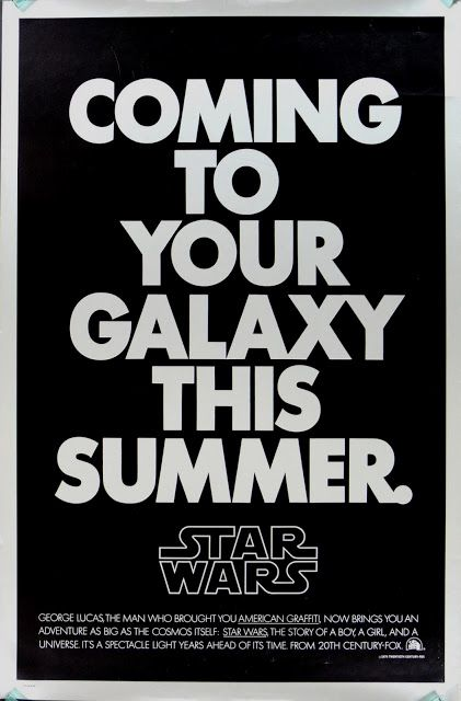 Old Star Wars poster. Also, click through to learn about the logo!