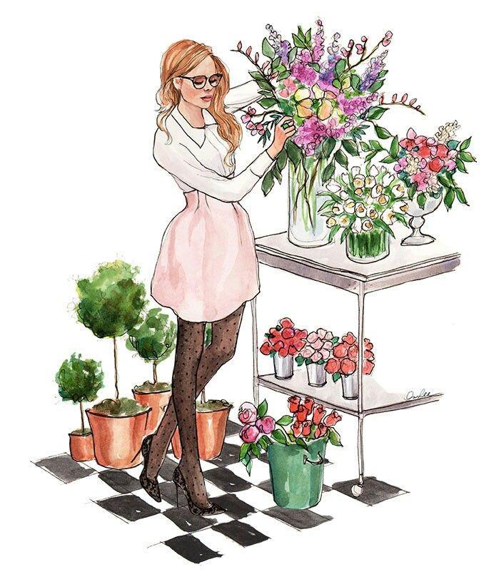 Прикольные картинки для флористов, поздравление