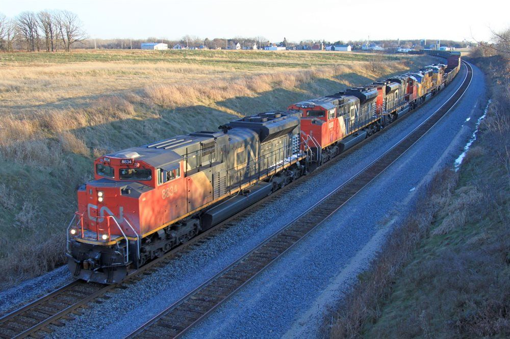 Downhill With Cn Sd70m 2 S On Black Friday Trains Magazine Canadian National Railway Railroad Photography Train