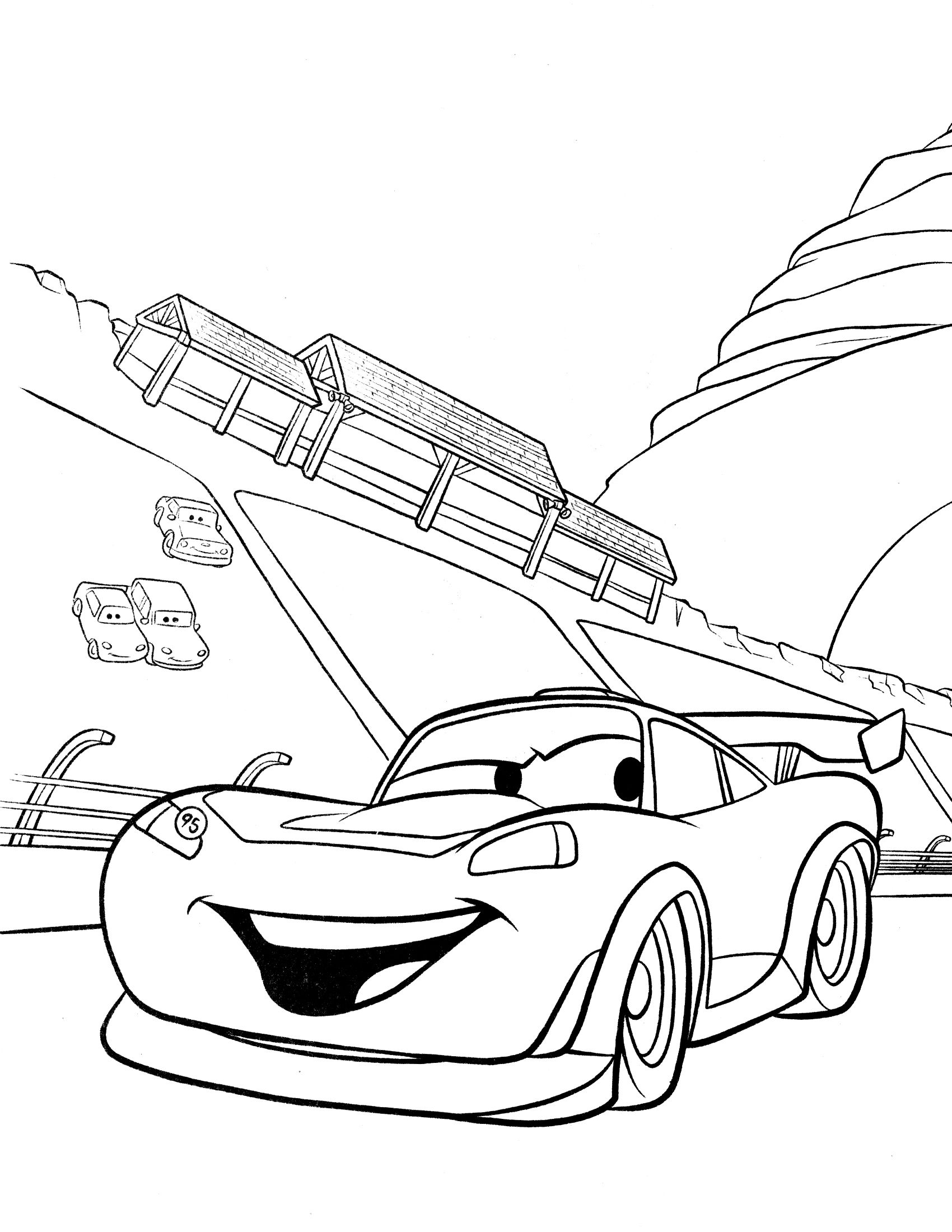 Disney Cars Coloring Pages Bing Images Cars Coloring Pages Truck Coloring Pages Race Car Coloring Pages [ 2200 x 1700 Pixel ]