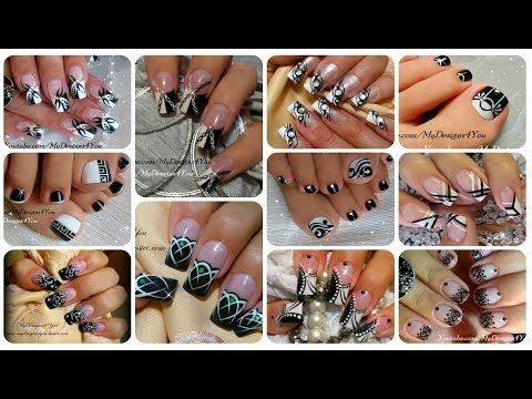 Nail art compilation 17 black and white designs ♥ youtube