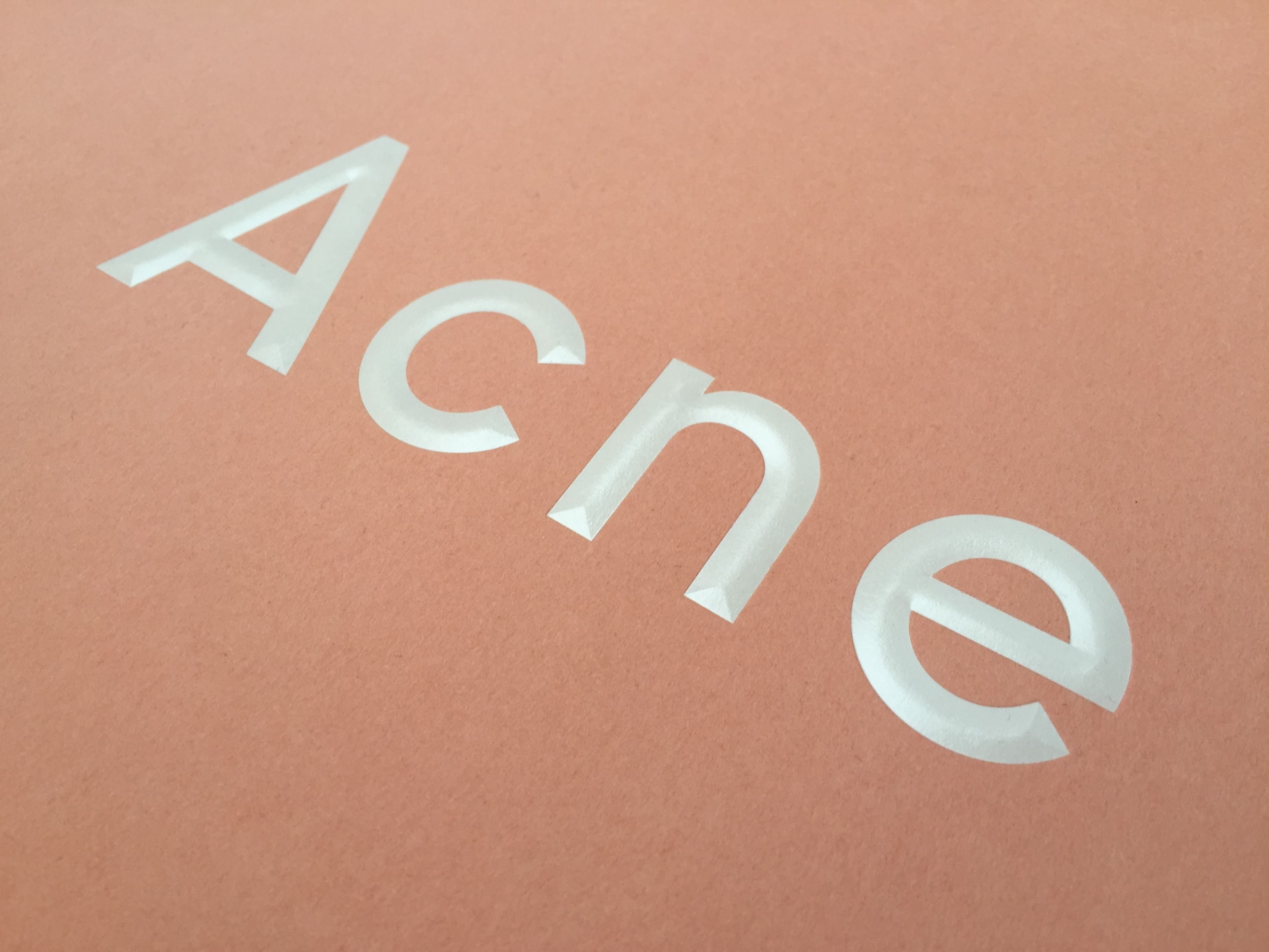 Pin by sara strand on technique pinterest printed matter print finishes acne paper printed matter print design acne studios business cards brand identity signage invitation reheart