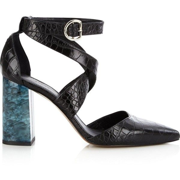 2979404b5a32 Whistles Taylor Croc Cross Marble Heels (3.188.535 IDR) ❤ liked on Polyvore