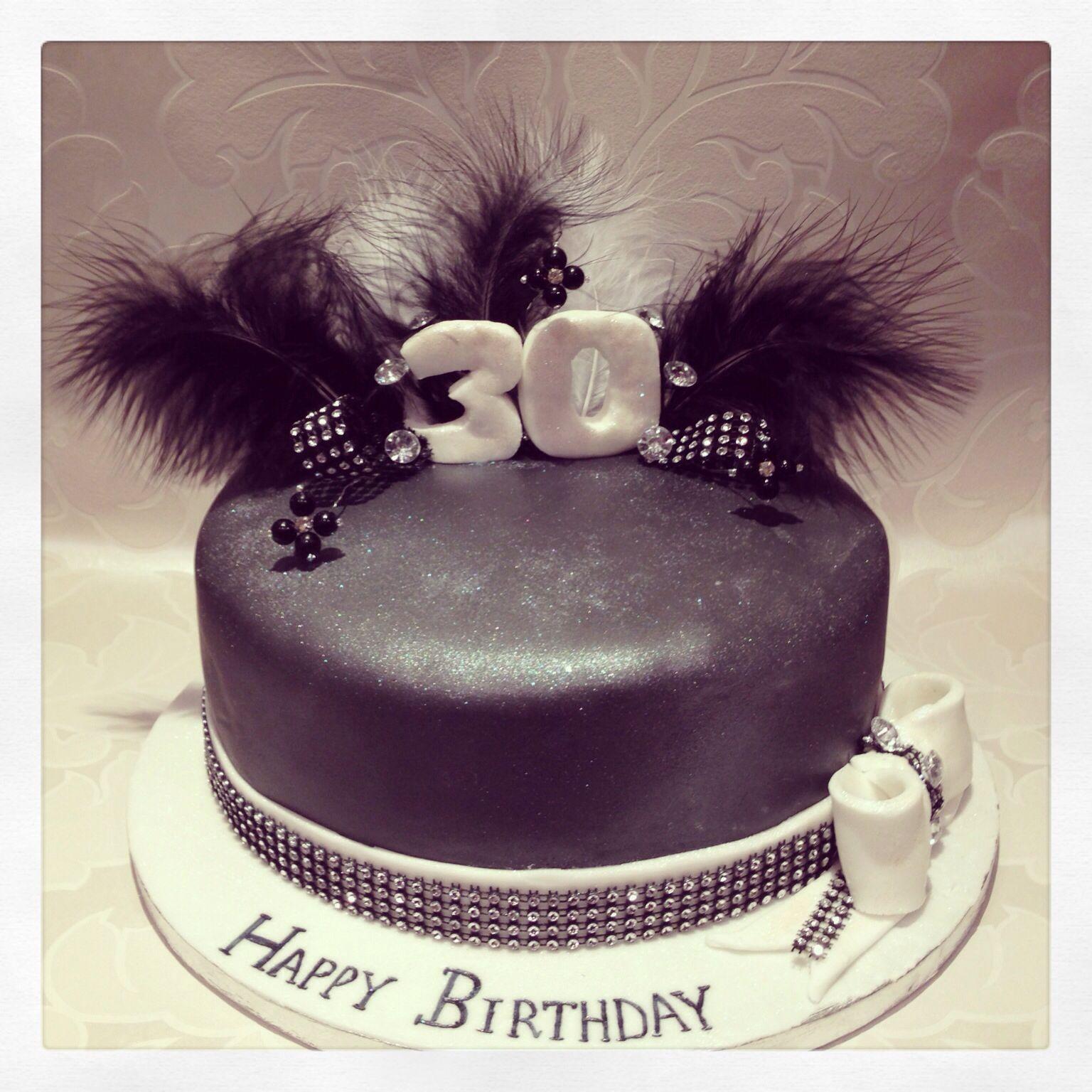 Black Bling 30th Birthday Cake By Fairytale Fancies 30th Bday