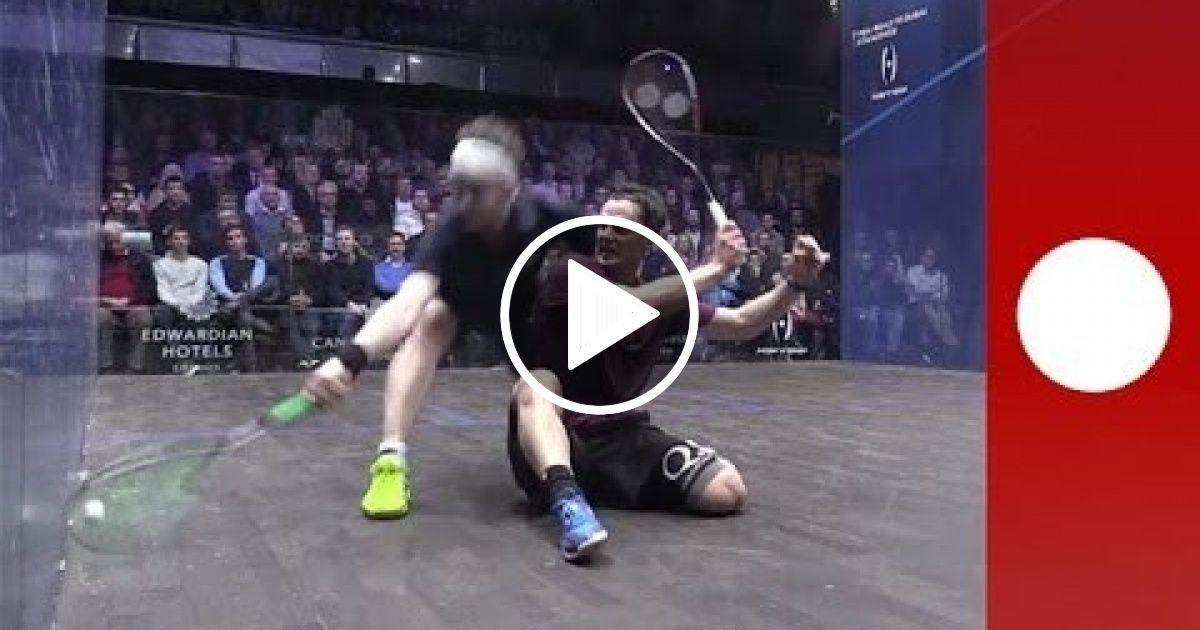 Unbelievable squash rally leaves commentators gobsmacked