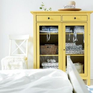 Painted Ikea Hemnes Cabinet   Another Pretty Yellow Cabinet
