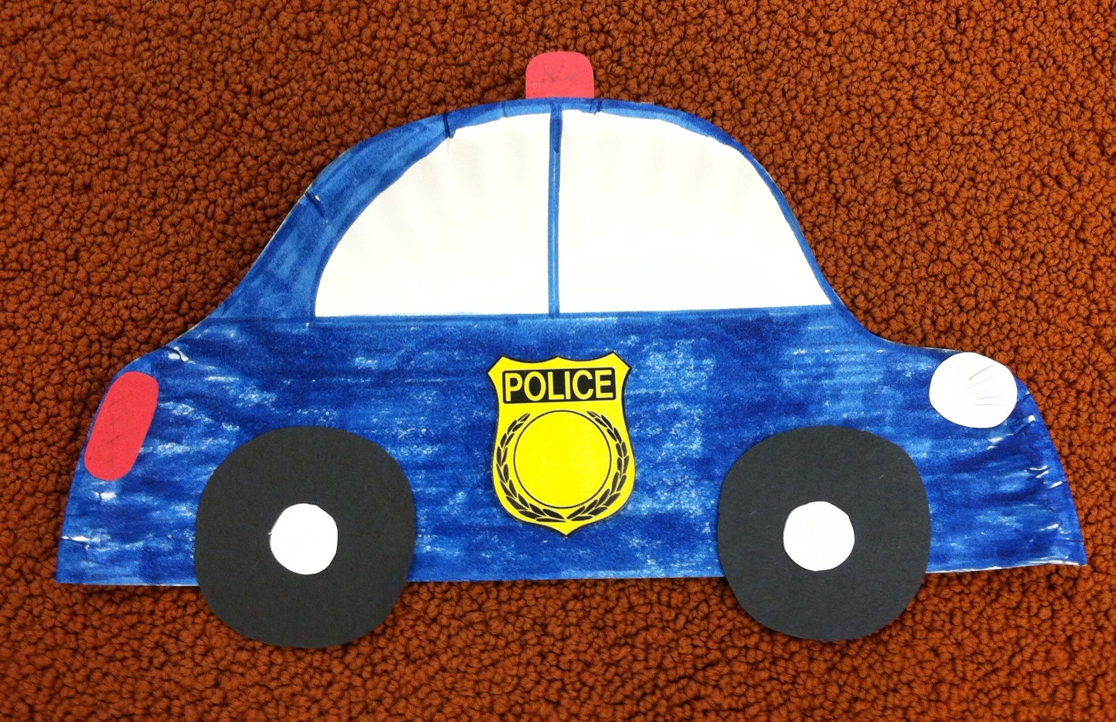 Src Paper Plate Police Car