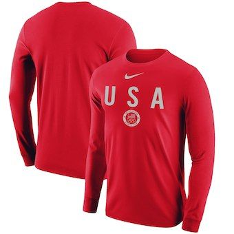 Team USA Nike Women's Gold T-Shirt - Red in 2019   Team usa apparel