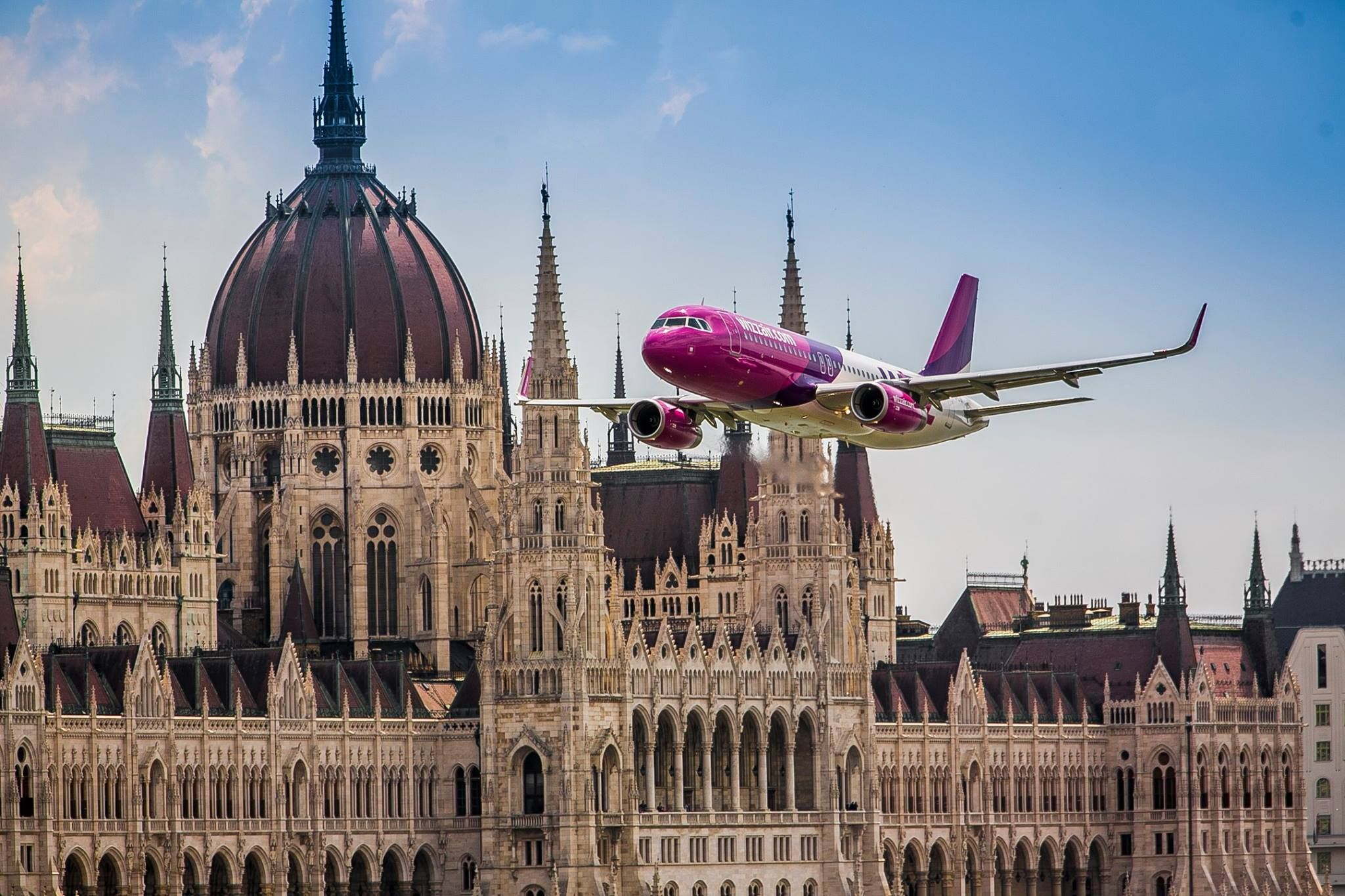 wizzair is one of the budget airlines to fly to the main