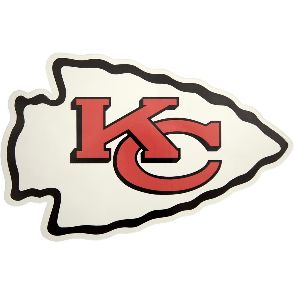 Applied Icon Nfl Kansas City Chiefs Outdoor Logo Graphic Small Nfop1601 The Home Depot In 2020 Kansas City Chiefs Logo Chiefs Logo Nfl Kansas City Chiefs