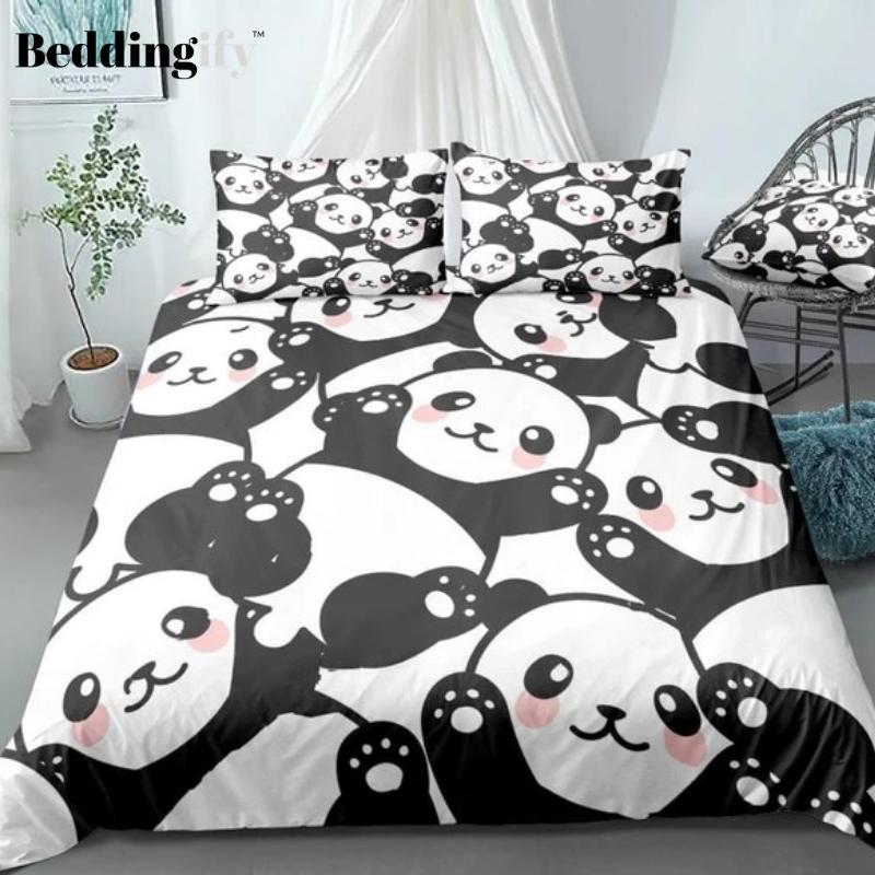 Cute Cartoon Panda Bedding Set In 2020 Bedding Set Duvet Cover Pattern Duvet Cover Sets