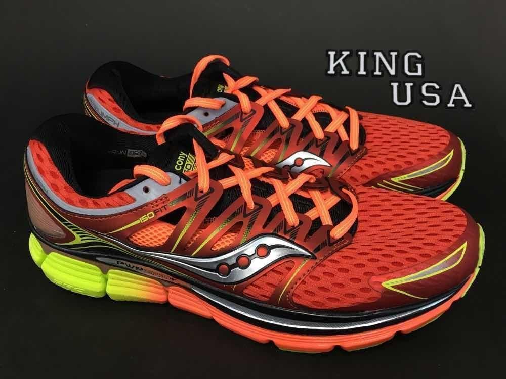 864734adea Men's Saucony Triumph ISO,Running Athletic Shoes,S20262-5,Red Orange ...
