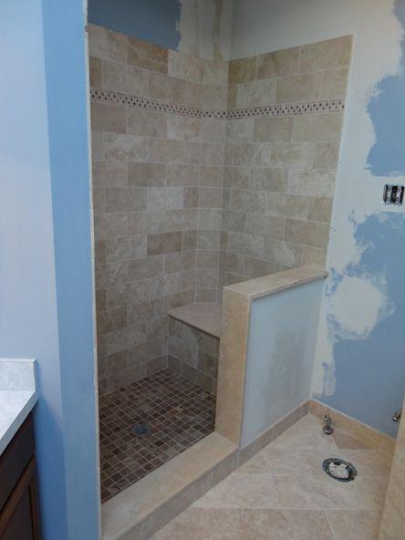 Super Luxurious Handicapped ADA Compliant RollIn Shower - Ada compliant floor tiles