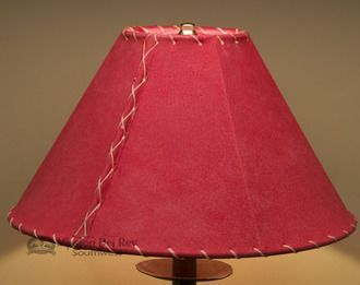 Western Leather Lamp Shade 14 Red Pig Skin Lamp Shade Lamp Western Leather