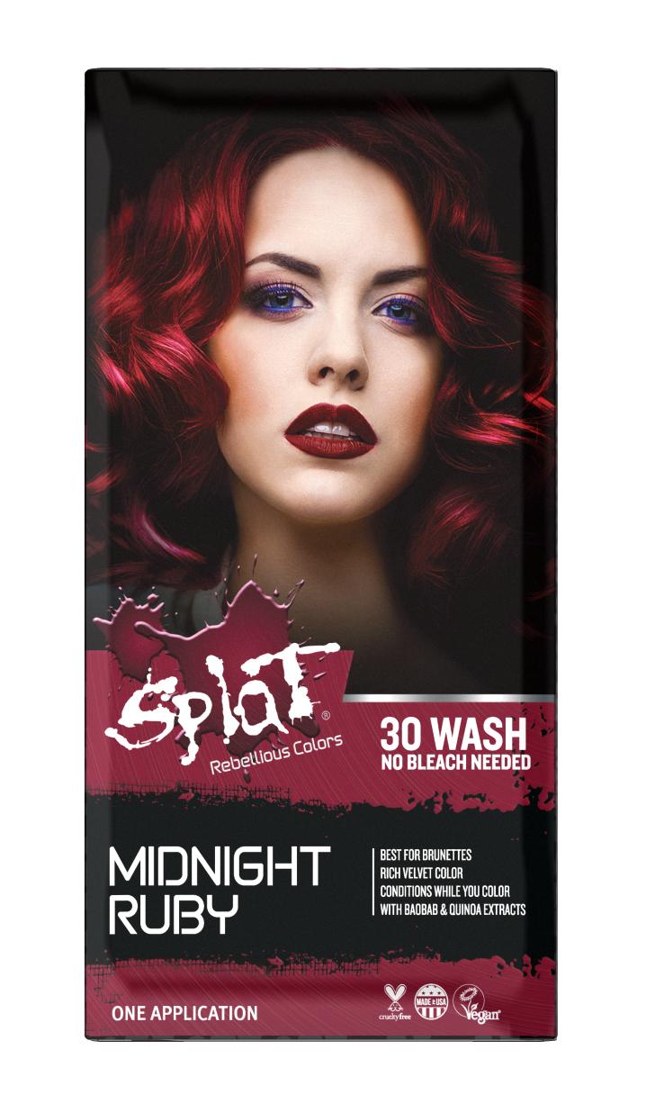 Splat Midnight Ruby Hair Dye Semi Permanent Red Hair Color Walmart Com In 2020 Bleach Hair Color Splat Hair Dye Bleached Hair