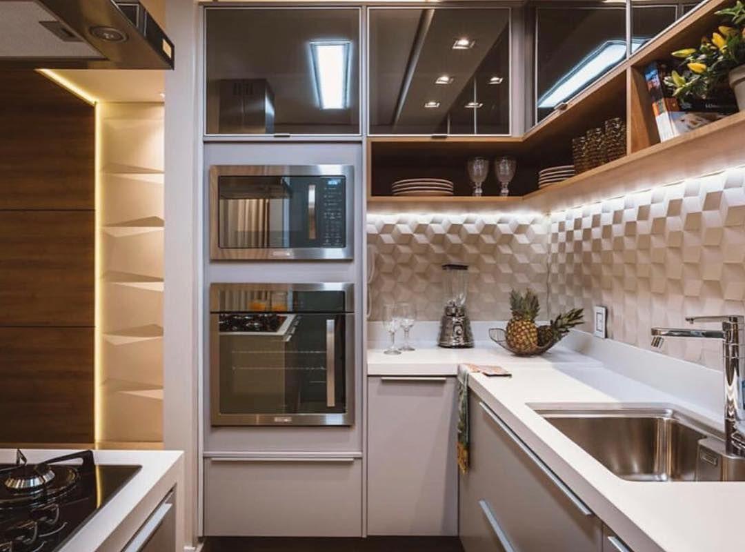 Cozinha Americana Showwww Com Direito A Revestimento 3d E Torre De