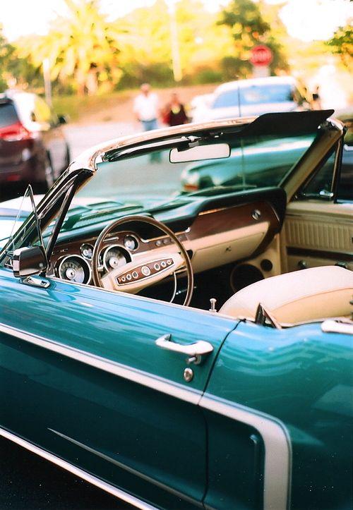Engine Vintage Teal Getaway Car
