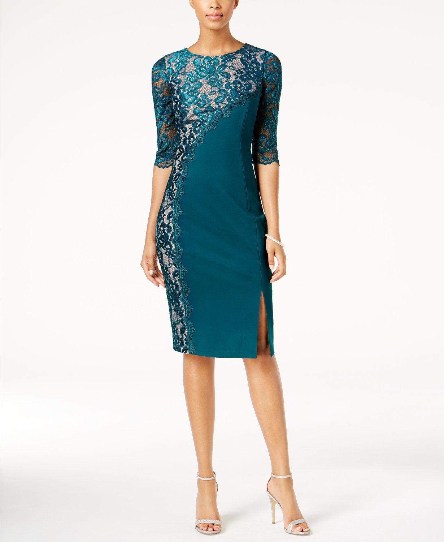 JAX Lace-Trim Sheath Dress   macys.com   Vestidos   Pinterest   Lace ...