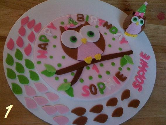 My name again Little Owl Birthday Cake Smash Cake