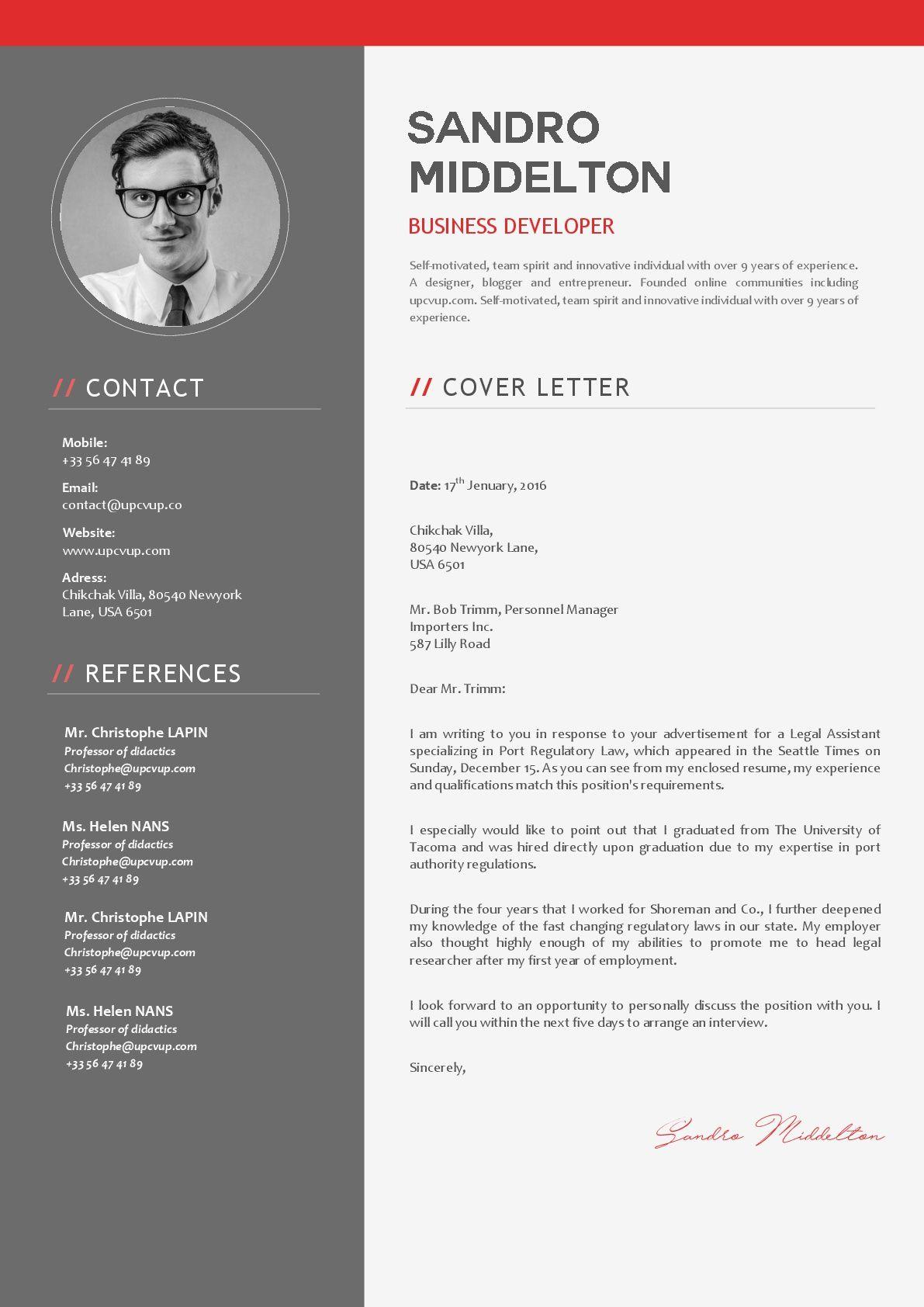 Modèle de lettre de motivation en format Word à
