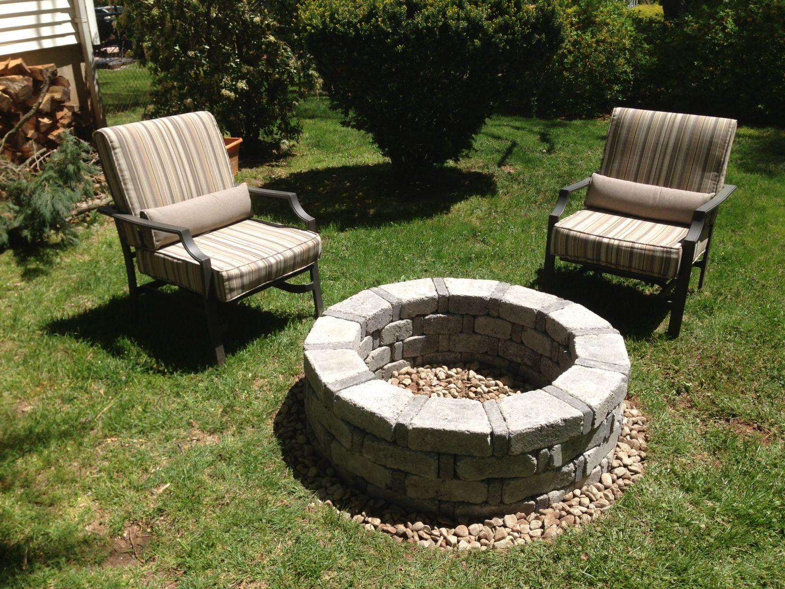 DYI fire pit, so easy | Cheap landscaping ideas, Backyard ...