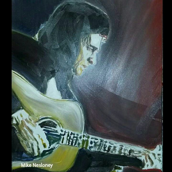 #johnnycash #art #oilpainting #musician #painting #illustration