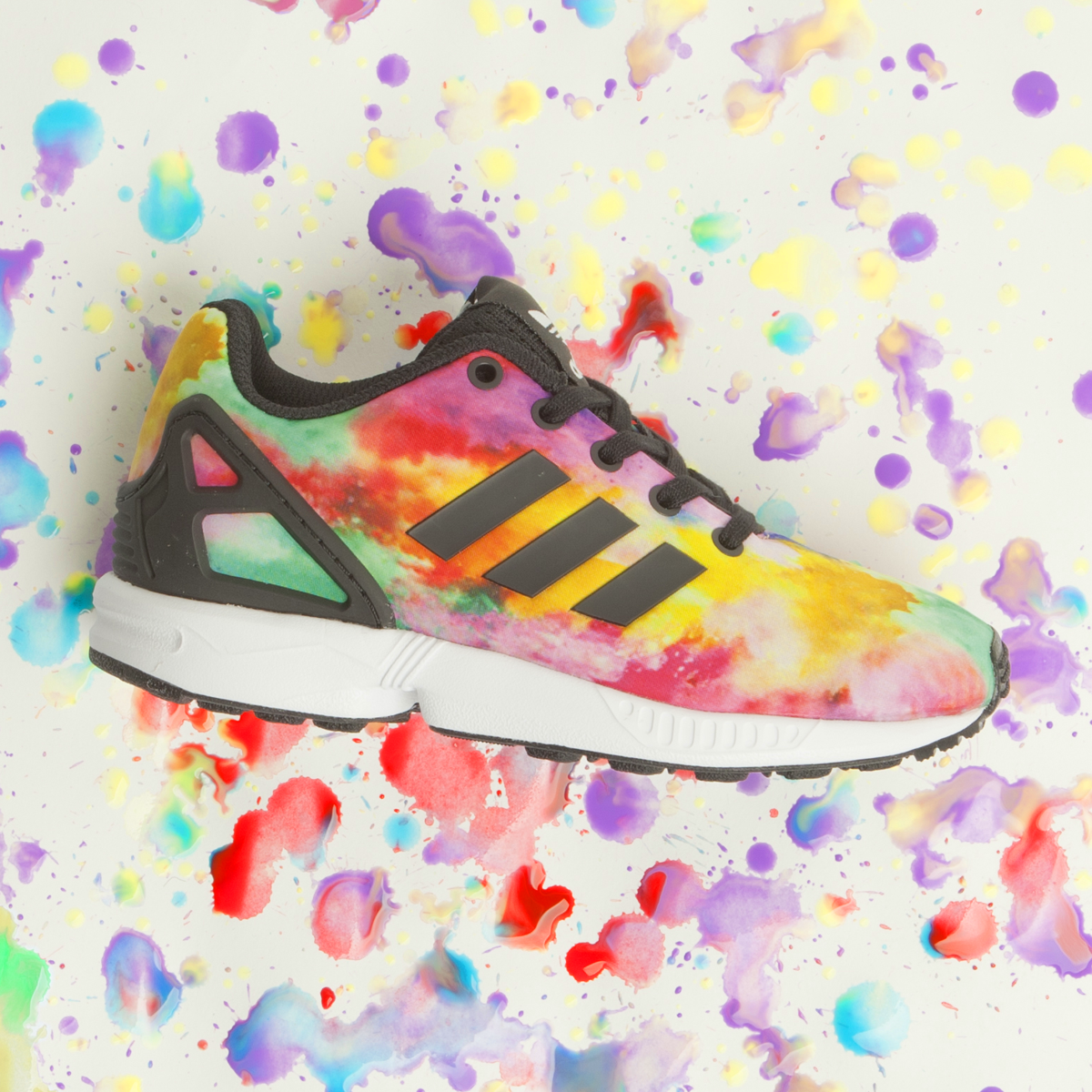 Girls Multi Adidas Zx Flux Junior Trainers   Kid shoes, Adidas ...