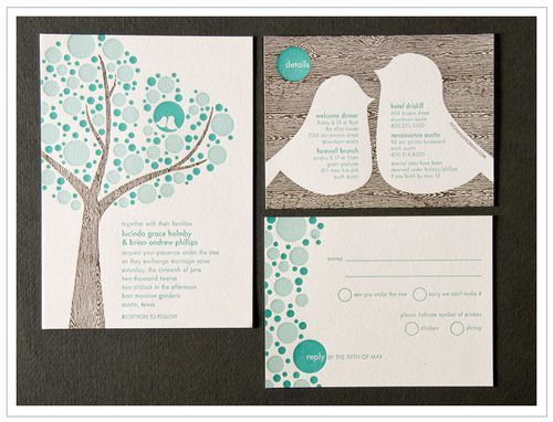 letterpress lovebird wedding invitations | letterpresses, wedding, Wedding invitations
