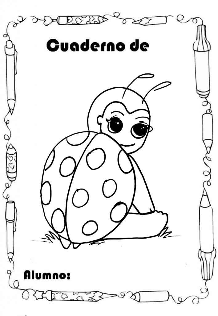 12 caratulas con dibujos infantiles para colorear e for Dibujos pared infantil
