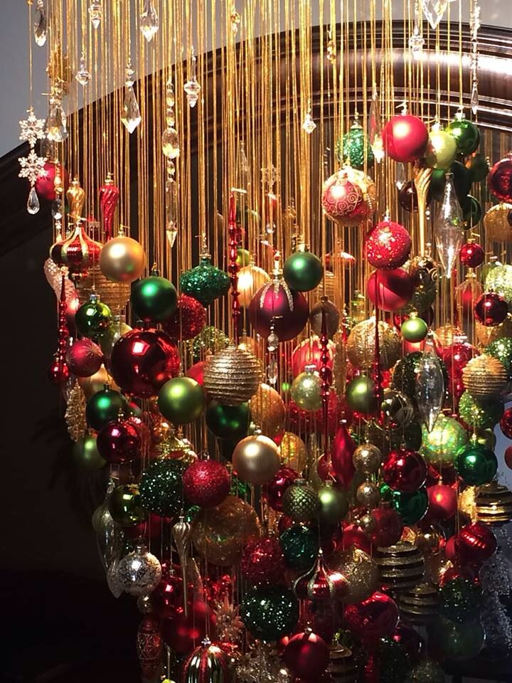 Christmas Ball Chandelier