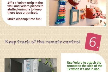 10 Creative Ways To Use Velcro Infographic