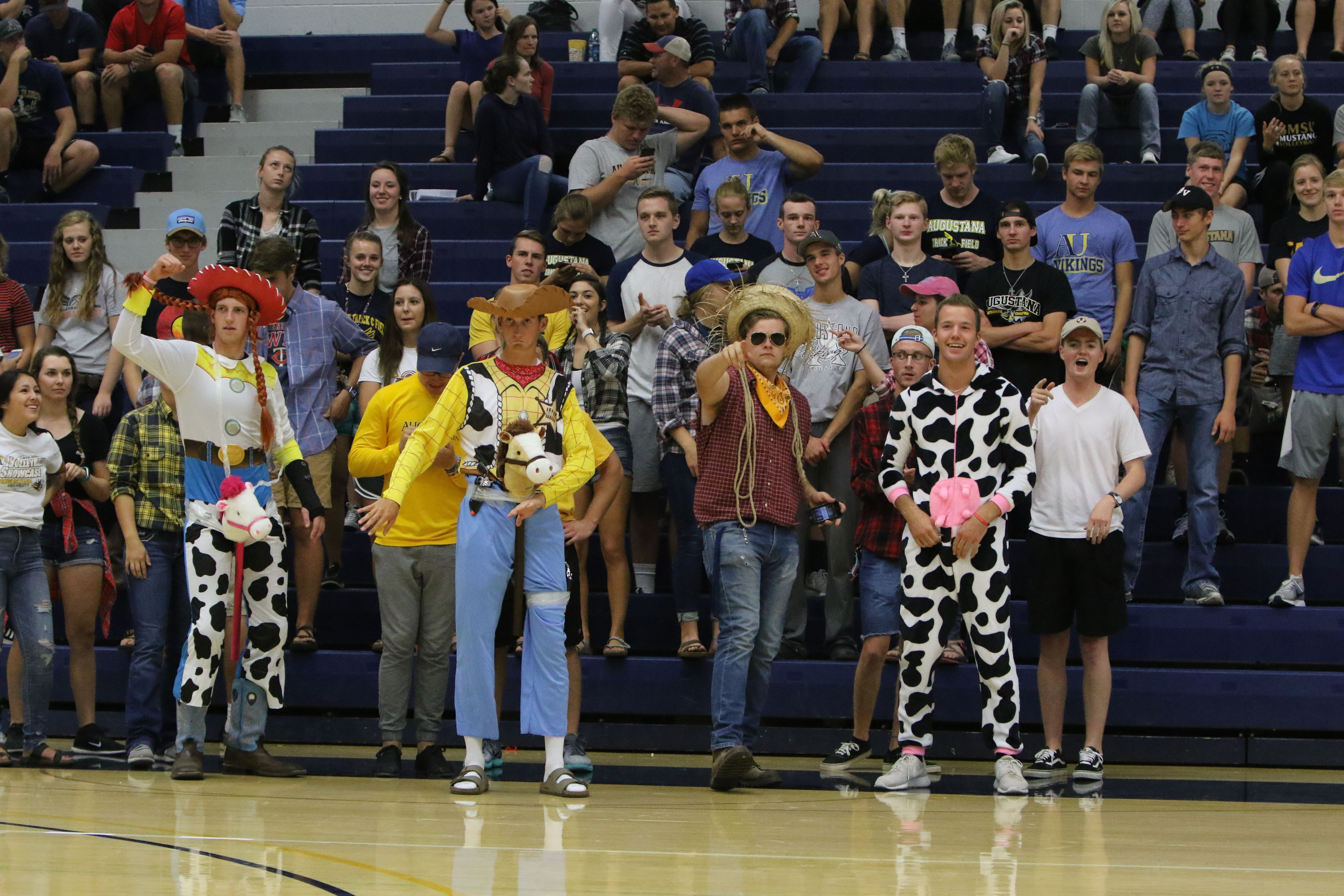 Western Theme Night For Our Students At Volleyball Against Smsu Athlete Vikings Fan Augustana