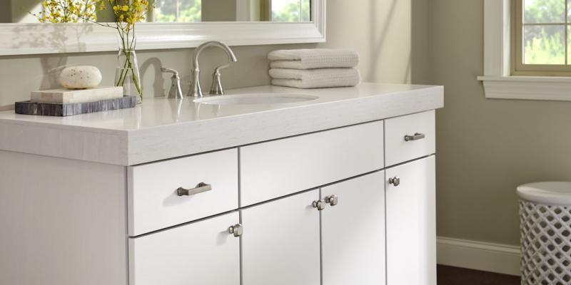 Brushed Nickel Finish Cabinet Hardware Beautiful Bathrooms