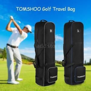 Tomshoo Golf Bag Smooth Rolling Travel Cover Case Carrier W Wheels X6a0 Ebay