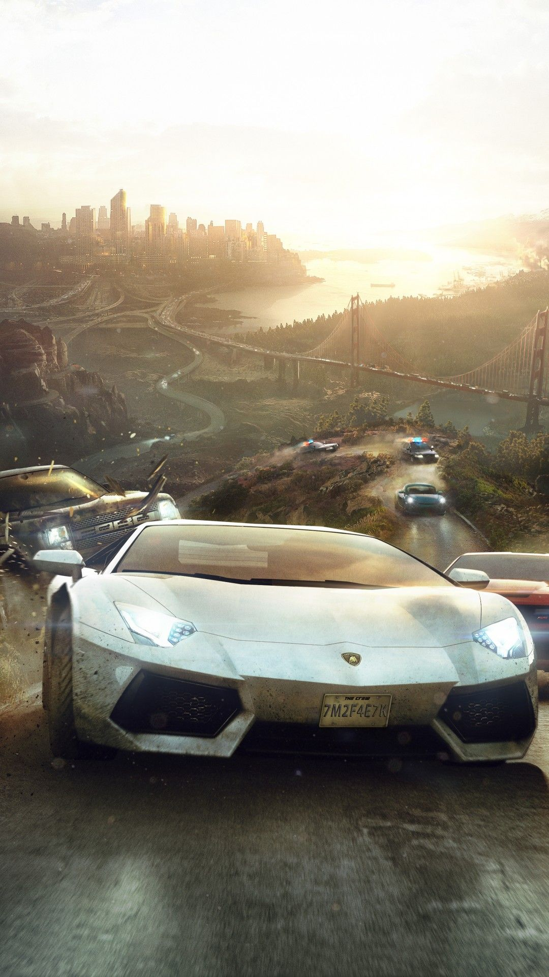 Free The Crew Ps4 Xbox One Pc Racing Game Desktop Wallpaper Free