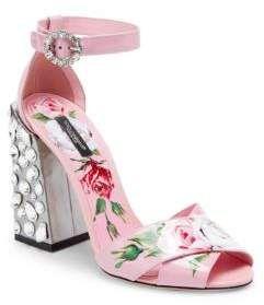 050a5e4ea61d Dolce   Gabbana Floral-Print Block Heel Sandals  shop  shopnow  fashion   designer  designeritem  luxuryfashion  dolcegabbana