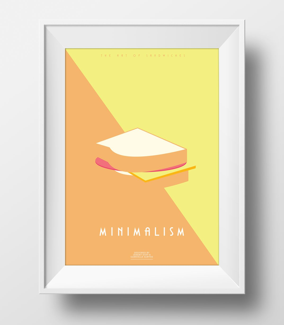 Poster design less is more - Less Is More Minimalism Sandwich Poster Buy It Here Https Www