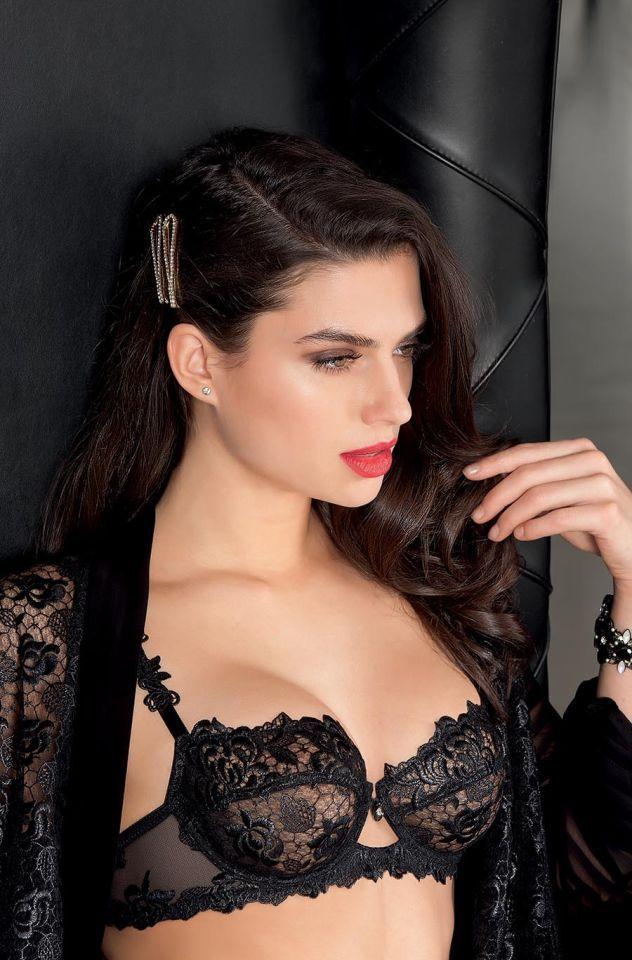 53b235de76192 Nicole Harrison modeling Lise Charmel AW2017 ~  Splendeur Soie  Lingerie  Collection