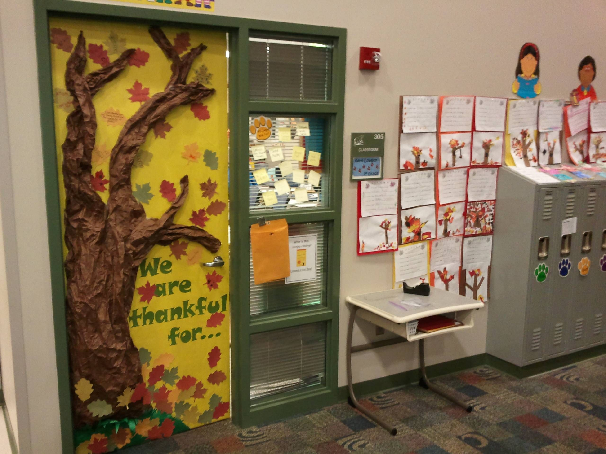 Fall 1st grade door.