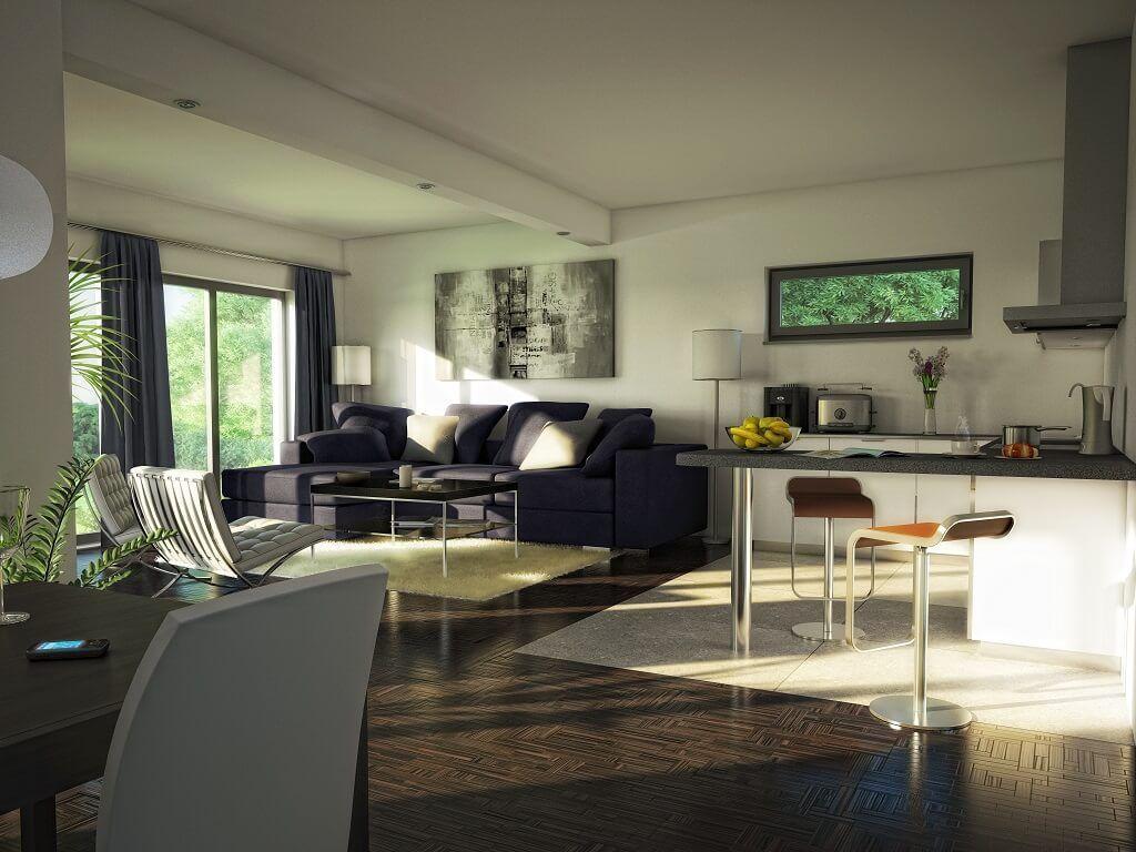 Modernes bungalow innenarchitektur wohnzimmer wohnzimmer inspiration bungalow evolution  v bien zenker