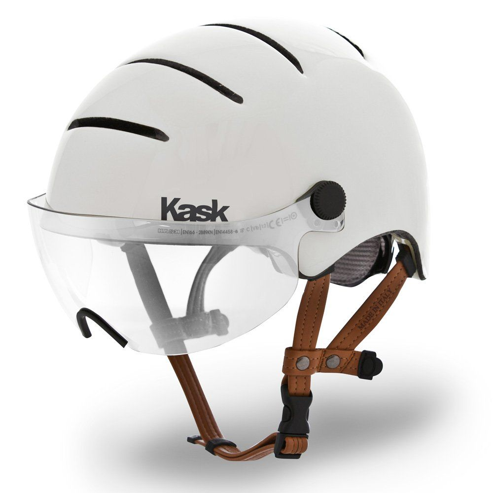 Kask Lifestyle Urban Commuter Cycle Helmet W Clear Visor White