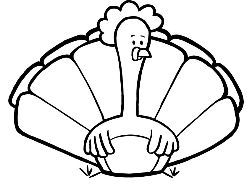 Cute Turkey Coloring Pages Clipart Panda Free Clipart Images