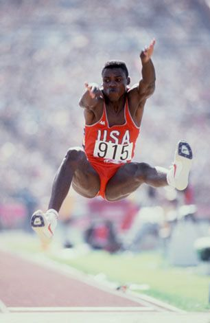 Carl Lewis Long Jump Sports Olympic Hero Olympic Athletes