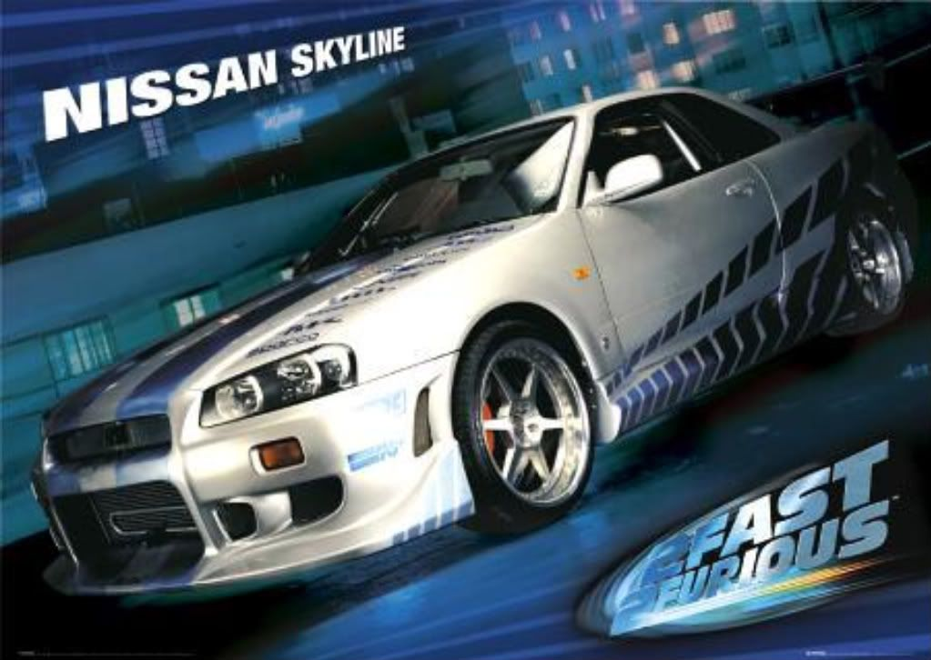nissan skyline r34 2 fast 2 furious - wallpaper. | wallpapers