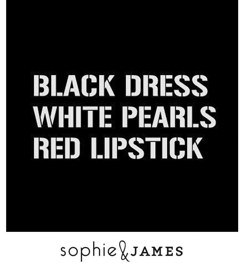 Blackdress Pearls Redlipstick Classy Quotes Black Dress Style